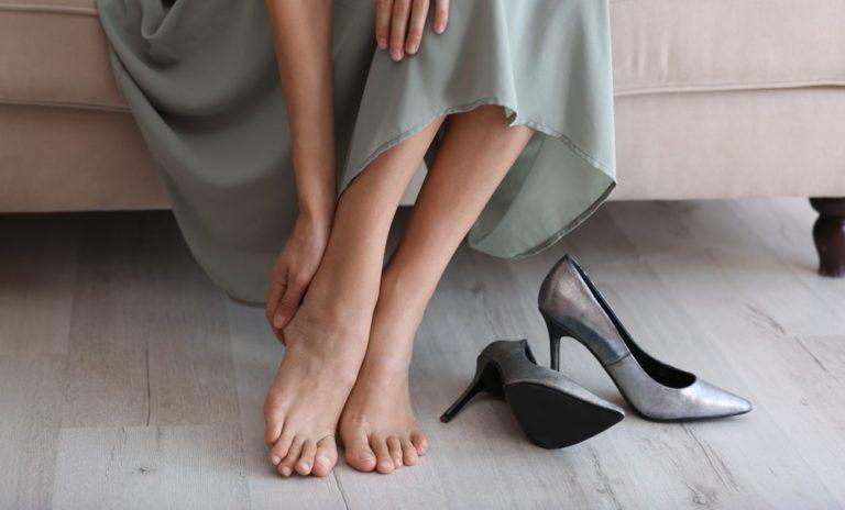 生足で長時間履いた靴