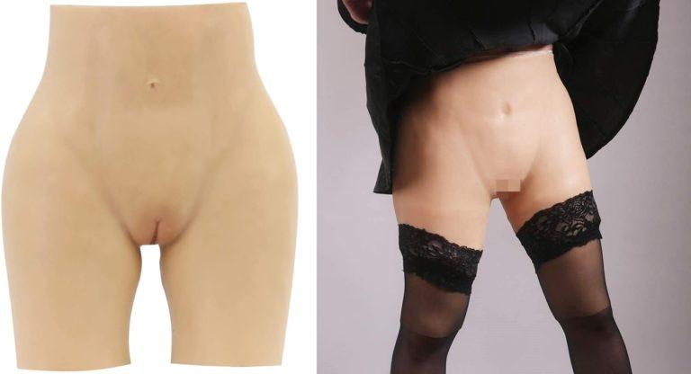 シリコンパンツ 女装パンツ 尿道付き 導尿可能 女装 コスプレ 超リアル 仮装 ズボン式 Lサイズ 肌色