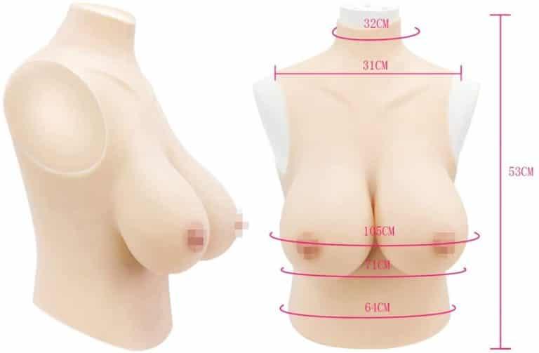女装用 シリコンバストHカップ