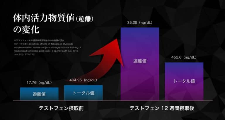 09_テストフェンによるテストステロン上昇のグラフ_