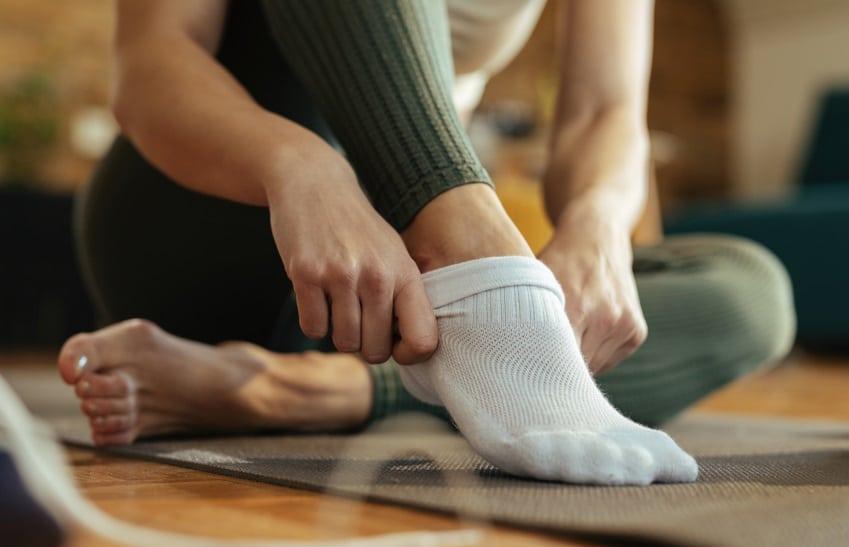 女性の靴下