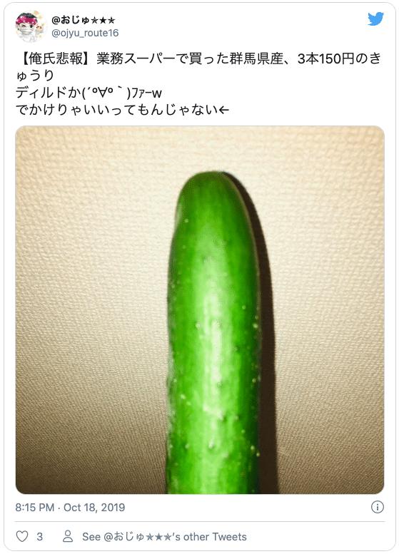 野菜ディルド オナニー