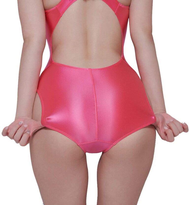 LEOHEX スクール水着ピンクの後ろ