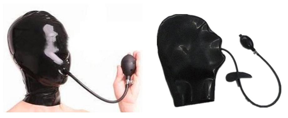 全頭マスク インフレータブルギャグ付き