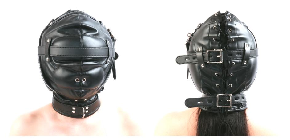 絶対服従 完全閉塞全頭拘束マスク
